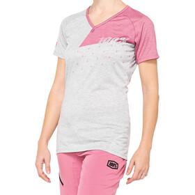 100% Airmatic Koszulka rowerowa z zamkiem błyskawicznym Kobiety, szary/różowy